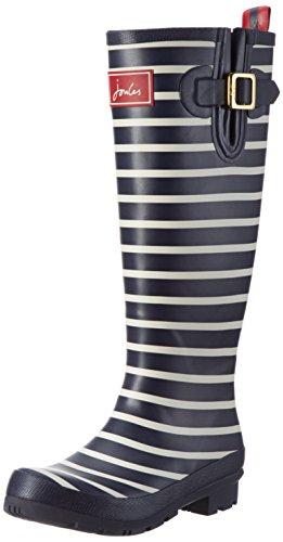 Joules Damen-Gummistiefel, Wellyprint, Regen-Stiefel, R Navy Stripes, UK 3 / EU 36 / US 5 / AU 5