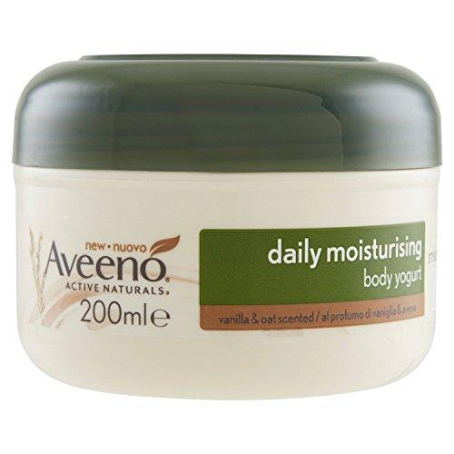 Aveeno - Yogur corporal hidratante, 200ml, aroma de vainilla y avena