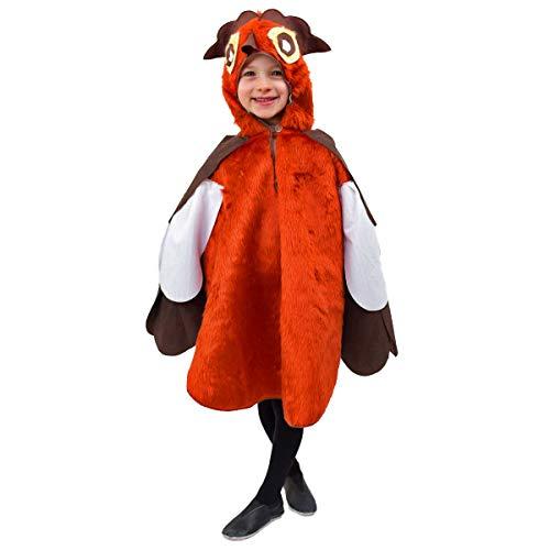Krause & Sohn Child Costume Hibou Olli Taille 116 Peluche Costume Oiseau Animal Carnaval