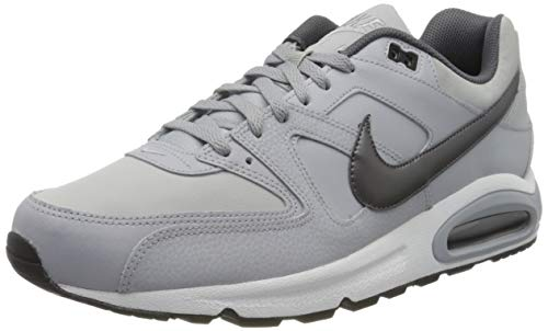 Nike Herren AIR MAX Command Leather Laufschuhe, Grau (Wolf Grey/MTLC Dark Grey/Black/White 012), 45 EU