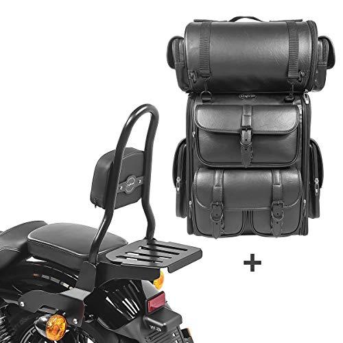 Respaldo CSM Fix + Bolsa Trasera LX para Harley Sportster 1200 Nightster 08-12