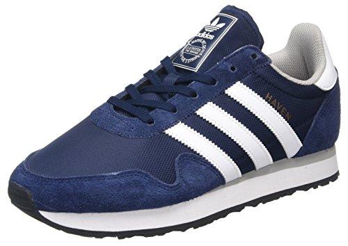 adidas Haven - Tobillo bajo Unisex adulto, Azul (Collegiate Navy / Footwear White / Clear Granite), 36 EU