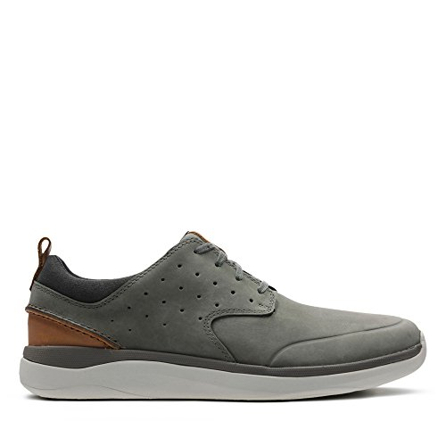 Clarks Herren Garratt Lace Sneaker, Grau (Grey Nubuck), 43 EU
