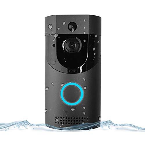Home Smart WiFi Doorbell Ring Wireless Video Camera Phone Bell Intercom (Black)