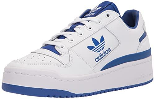 adidas Originals Women's Forum Bold Sneaker, White/White/Team Royal Blue, 9.5