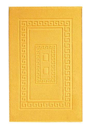CASA TESSILE Tapis de Bain éponge 45 X 60 cm Torino - Giallo