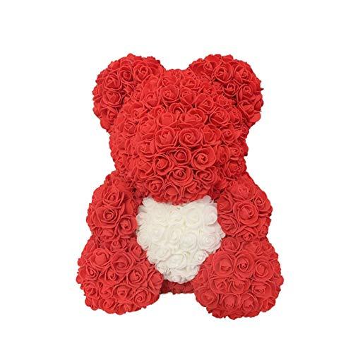 TLLY Osito de Peluche Rosa, Oso de Flor Rosa, Flor Artificial simulada, Flor Hecha a Mano Osito de Peluche Rosa, Regalos para el día de San Valentín, cumpleaños, Bodas, Aniversarios