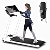 Rpvati Smart Folding Electric Treadmill for Home Use, 0.75HP, Electric Walking Jogging Exercise Machine with Shock Absorption Tread Belt for Small Space, Safe Handrail and LED Display, Max Load 286LB