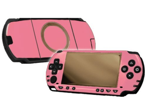Soft Pink Vinyl Decal Faceplate Mod Skin Kit for Sony PlayStation Portable 1000 (PSP) Console by System Skins
