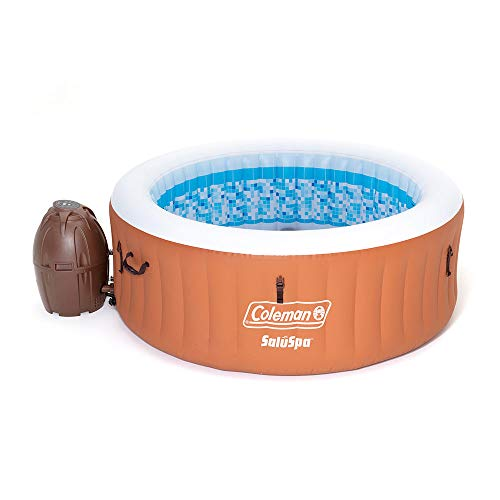 Coleman 90455 SaluSpa Miami 71-Inch x 26-Inch 4 Person Outdoor Portable Inflatable Hot Tub Spa with 120 Air Jets, Pump, 2 Filter Cartridges, and Tub Cover