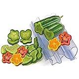 kjhgk 2PCS Garden Vegetable Growth Forming Mould, Pentagram-Shaped Mold, Heart-Shaped Cucumber Fruit Shaping Molds Tool