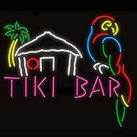 Tiki Bar オウム ハウス 本物のガラス ビールバー パブ 店舗 パーティー ルーム 壁 窓 ディスプレイ ネオンサイン 19x15