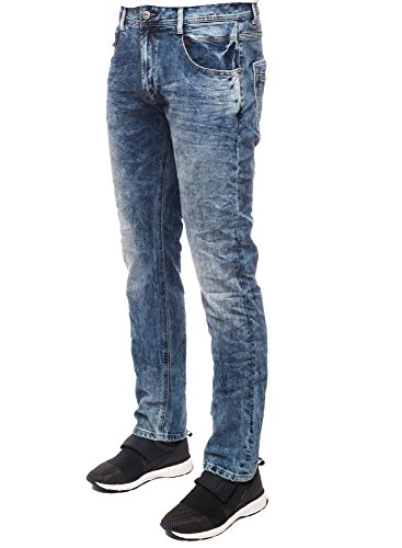 M.O.D Carl Jeans Straight, Blau (Lima Blue 1945), 30W x 32L Uomo