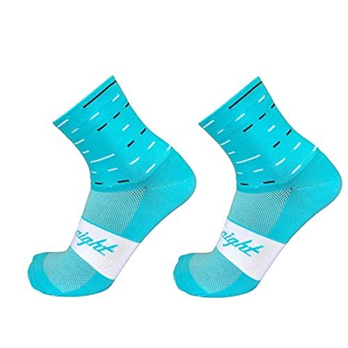 ACEACE Calcetines de Ciclismo de Carretera Sport Bicycle Socks Transpirable al Aire Libre Carreras de Calcetines (Color : Blue, Size : 39-45)