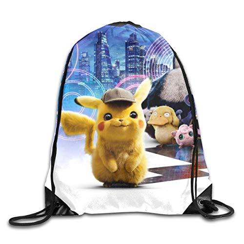 KANKANHAHA Detective Pikachu - Mochila de Viaje con cordón