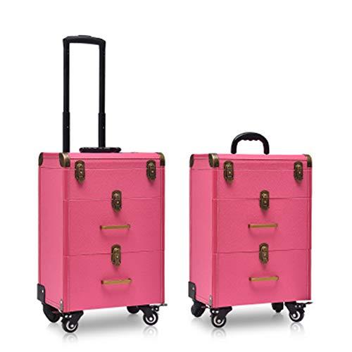 Belle Boîte À Outils De Coiffure Nail Technician Trolley Case Cosmétiques Beauty Trolley Box Travel Makeup Case Storage Box,B
