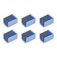 uxcell アルミヒートシンク熱接着パッドクーラー 13x20x14.5mm 冷却3Dプリンター用 ブルー 6個