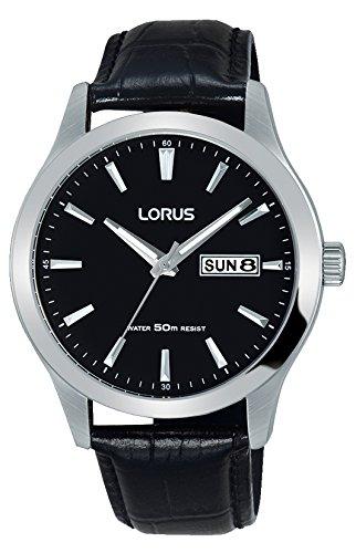 Lorus Watches Herren Analog Quarz Uhr mit Leder Armband RXN27DX9