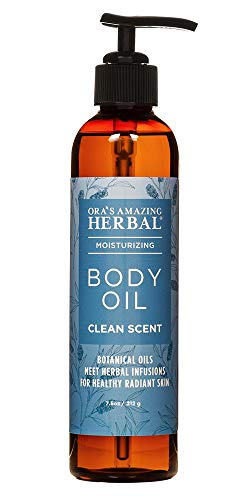 Ora's Amazing Herbal, Body Oil For Dry Skin, Natural Body Oil for Men and Women, Moisturizing Body Oil, Clean Scent, Lemongrass Oil, Eucalyptus Oil, and more Essential Oils, - 7.5oz