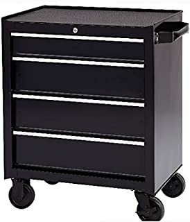 Rolling Tool Cabinet Storage – Ball-Bearing 4-Drawer Metal Tool Chest – Great For Garage, Tattoo...