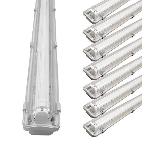 proventa® LED-Feuchtraumleuchte mit LED-Röhre 18W 1.800 Lumen 120cm IP65 4.000K Sparset mit 8 Stück