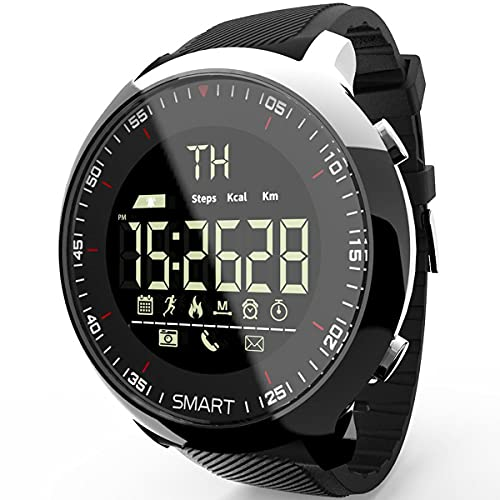 Nihlsen Ex18 - Reloj deportivo para hombre, resistente al agua, luminoso, podómetro, rastreador de fitness inteligente