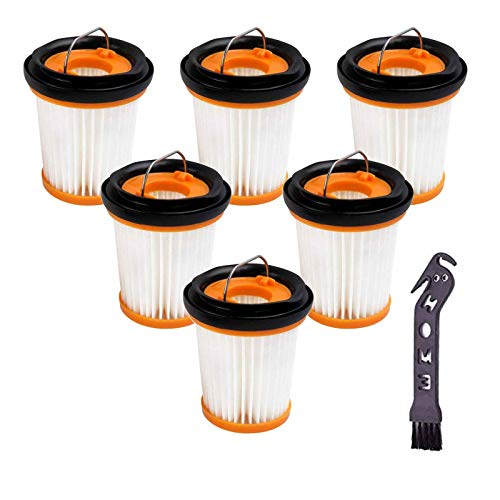 Replacement Fabric Vacuum Filter Compatible with Shark ION W1 S87 Cordless Handheld Vacuum WV200, WV201, WV205, WV220. Compare to Part # XHFWV200 (6 Pack)