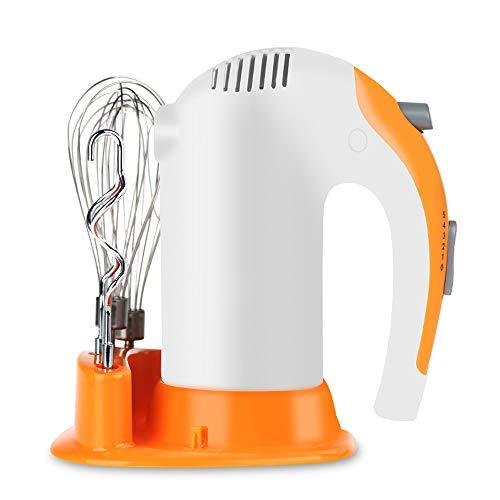 Elektrische roerder, professionele handmixer, ergonomisch design, 2 x beaters, 2 x kneedhaken, vermogen 300 W, 5 snelheden, turbo-functie, voor keuken en cake