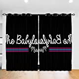 FDASLJ Customized Blackout Window Curtains Scarface Babylon Club Miami, Trucker Cap Grommet Thermal Insulated Room Darkening Drape for Bedroom Living Room 52 X 72 Inch, 2 Panels