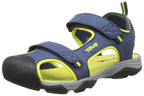 Teva Teva Jungen C Toachi 4 Sport- & Outdoor Sandalen, Blau - Bleu (Nlm), 32 EU