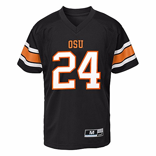 Gen 2 Oregon State Beavers NCAA Black Official Home #24 Replica Football Jersey for Boys (5/6)