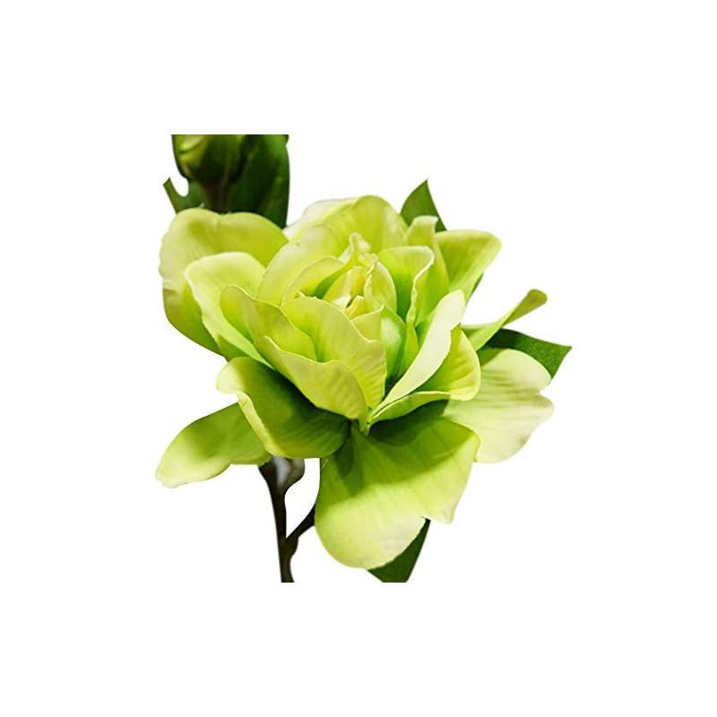 silk flower arrangements akomatial artificial fake flowers, 1pc 3 heads fashion artificial gardenia flower wedding party bouquet home decor - pink