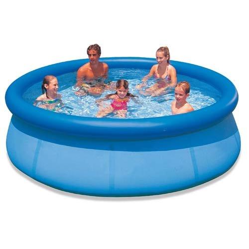 Large Fast Set Pool - 8 Ft or 10 Ft Quick Set Family Pool Garden Splash Paddling Pools 8 or 10 Foot Round Pool