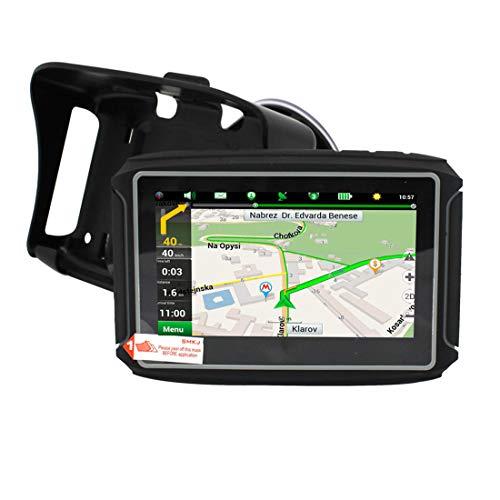 Dispositivo De Navegación GPS Para Motocicleta Con Pantalla Táctil ISP De 4.3 Pulgadas, Diseño Resistente, Resistente Al Agua IPX7 Para Condiciones Climáticas Adversas, 256M RAM + 8G Flash, BT, FM