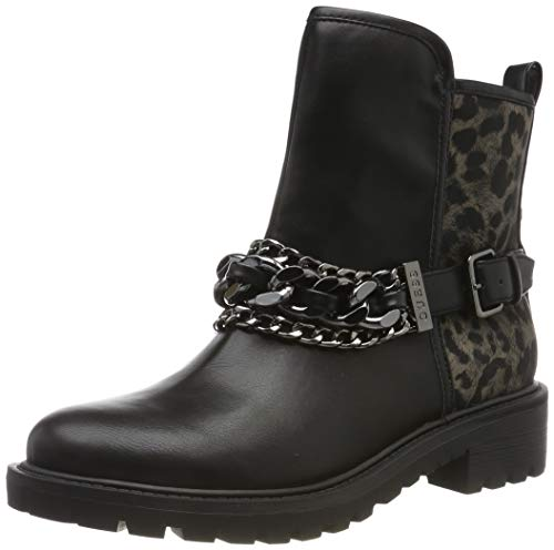 Guess Damen Holanae/Stivaletto (Bootie)/le Biker Boots, Schwarz (Black L/Op A), 39 EU