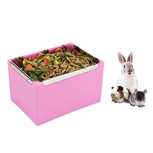 Ciotola per mangime per fieno di porcellini d'India, dispenser per erba medica senza coniglio, mangiatoia per piccoli animali, coniglio, porcellino d'india, galesaur, furetto