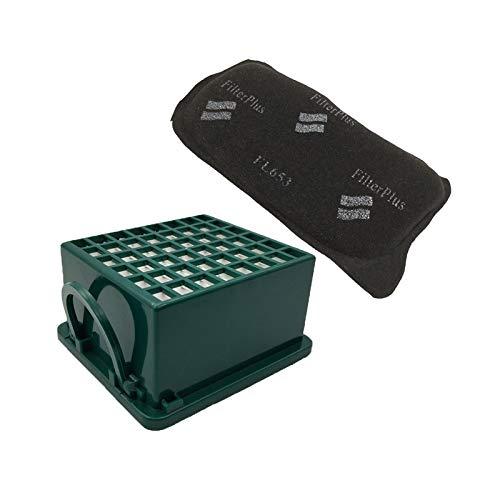 ADUCI 1pc Filtro HEPA y filtros de carbón Activado for Vorwerk Kobold VK130 VK131 VK131SC EB350 EB351 Aspiradora Filtrar Reemplazos