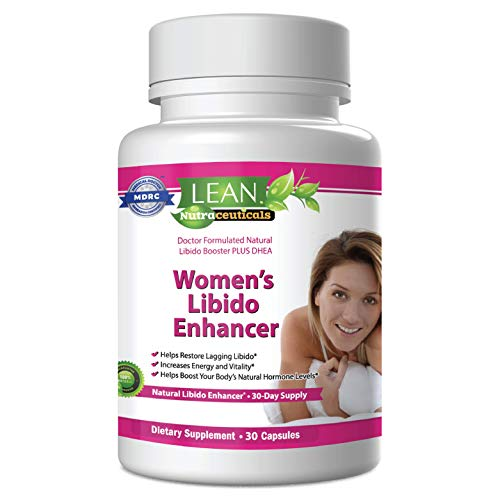 Lean Nutraceuticals Libido Booster for Women - Doctor Formulated Natural Women's Libido Booster / Increased Energy, Mood, Libido, and Reduced Dryness / Includes Dhea, Horny Goat Weed (30 Caps)