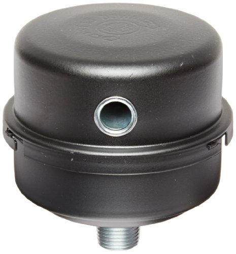 Solberg FS-10-050 Inlet Compressor Air Filter Silencer, 1/2' MPT Outlet, 4-1/8' Height, 4-1/8' Diameter, 12 SCFM, Made in the USA