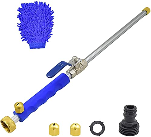 Buyplus Hydro Jet Power Pressure Washer Wand - Portable High Pressure Water Gun, Extendable Garden Hose Watering Sprayer with Nozzle Tips for Car Window Glass Washing
