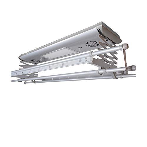 household products Multifunktionale elektrische Wäscheleine zum Heben, Einziehbare Aluminium-Kleiderstange mit Fernbedienung, Intelligenter Wäscheständer mit LED-Leuchten für den Heimbalkon