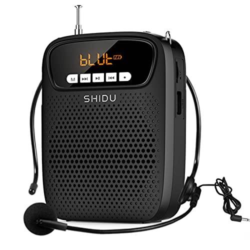 Amplificador de voz Bluetooth con micrófono, 15W altavoz portatil con microfono multifuncional de 2500 mah recargable de para profesoras, guia turistico,aulas ect