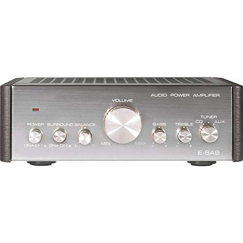 Renkforce E-SA9 Stereo-Verstärker 2 x 12W Silber (metallic), Dunkelbraun