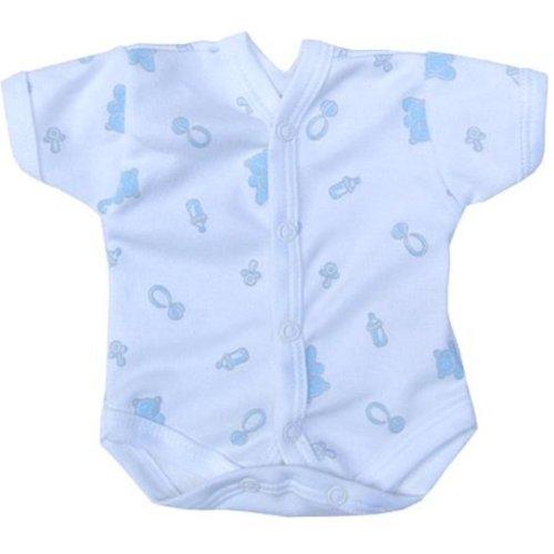 Babyprem Baby Body NICU Neonatalen Kleine Frühgeborene Blauer Teddy 32-38CM P1