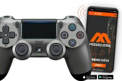 PS4 PRO Rapid Fire Custom MODDED Controller Exclusive Unique Designs - CUH-ZCT2U (Steel Black)