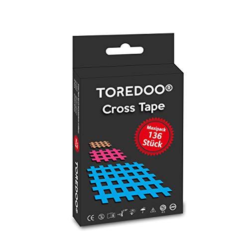 TOREDOO Cross Tape Gittertape Akupunkturpflaster Gitterpflaster 136 Stück - Mix Box klein groß Typ A B C Triggerpunkt Akupunktur blau pink skin Crosstape Set