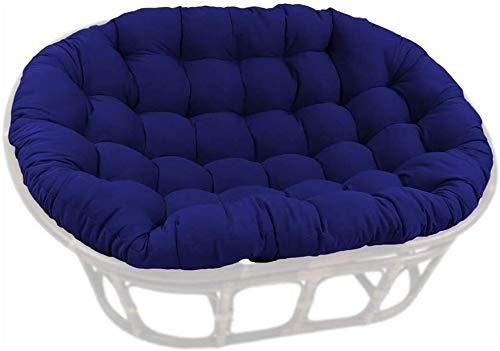 HLZY Cojines para exteriores para sillas de patio, cojines gruesos para sillas de patio, cojines para silla de 2 personas, cojines para silla nido de huevo, cojines para silla (color: azul marino)