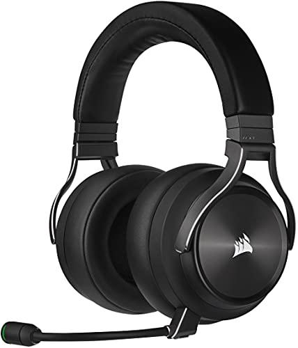 Corsair VIRTUOSO RGB WIRELESS XT Cuffie Auriculares de Alta Fidelidad para Juegos con Audio Espacial (Conexiones Inalámbricas Dobles, PC, PS5, Xbox Series X S, Nintendo Switch Compatibilidad) Pizarra