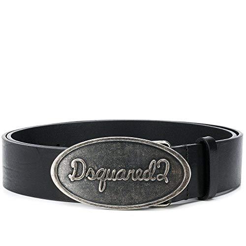 Dsquared2 DSquared2 - Cintura con fibbia Nero 90