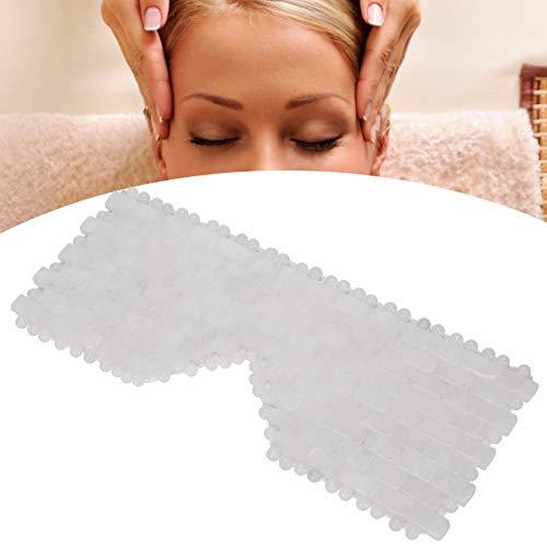 Mascarilla para ojos, masajeador de ojos con piedra de jade natural, tratamientos para los ojos que reducen la herramienta para el cuidado del sueño con piedra del círculo oscuro(blanco)